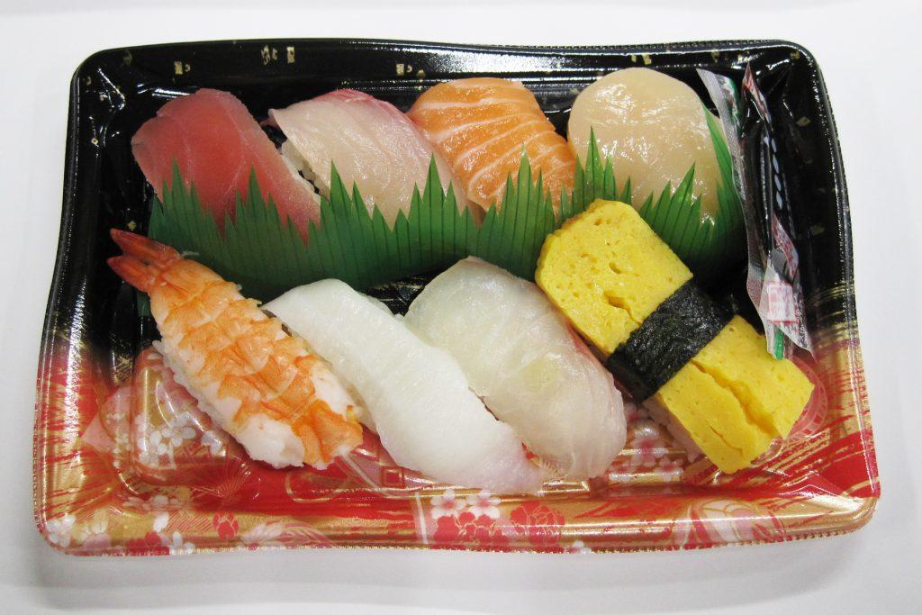 新鮮なネタが8貫入ったお寿司